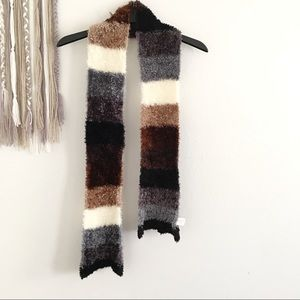 St. John's Bay Fuzzy Soft Striped Scarf